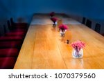 dried pink flower vases on... | Shutterstock . vector #1070379560