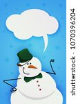 Snowman With Green Bucket And...