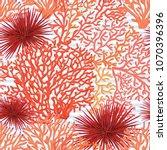sea world seamless pattern ... | Shutterstock .eps vector #1070396396