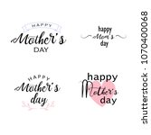 happy mothers day inscription   ... | Shutterstock .eps vector #1070400068