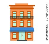 vector flat icon of hotel... | Shutterstock .eps vector #1070402444