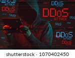 distributed denial of service... | Shutterstock . vector #1070402450