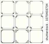 decorative frames  set 60  | Shutterstock .eps vector #1070403734