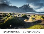 unique view on green hills with ... | Shutterstock . vector #1070409149