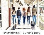 multi ethnic teenagers friends...   Shutterstock . vector #1070411093