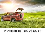 summer car and spring tuscany... | Shutterstock . vector #1070413769