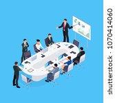 isometric concept of office... | Shutterstock .eps vector #1070414060