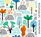 forest. jungle tropical... | Shutterstock .eps vector #1070414156