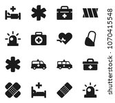 flat vector icon set   first... | Shutterstock .eps vector #1070415548