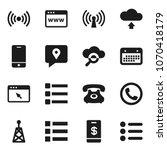 flat vector icon set   phone...