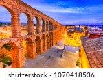 Segovia  Spain. Roman Aqueduct...
