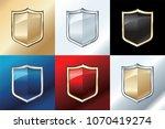 metal shield illustration... | Shutterstock .eps vector #1070419274