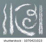 various shapes condensation... | Shutterstock .eps vector #1070421023
