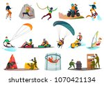 set of modern sports and... | Shutterstock .eps vector #1070421134