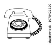vintage telephone isolated on... | Shutterstock .eps vector #1070421320