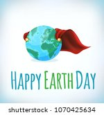 happy earth day card ... | Shutterstock .eps vector #1070425634