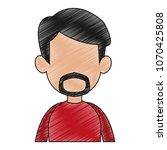 young man faceless cartoon... | Shutterstock .eps vector #1070425808