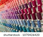 colorful embroidery thread... | Shutterstock . vector #1070426420