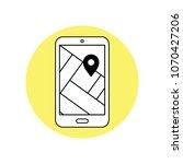 vector smartphone device...