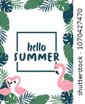 hello summer banner with... | Shutterstock .eps vector #1070427470