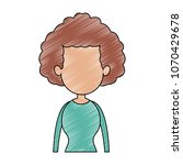 old woman faceless profile... | Shutterstock .eps vector #1070429678