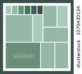 green mood board. vector... | Shutterstock .eps vector #1070430134
