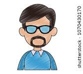 young man faceless cartoon... | Shutterstock .eps vector #1070430170