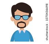 young man faceless cartoon | Shutterstock .eps vector #1070436698