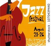 vector jazz festival poster...   Shutterstock .eps vector #1070439440