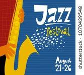 vector jazz festival poster...   Shutterstock .eps vector #1070439548