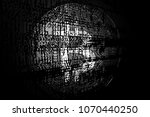 bitcoin on abstract background... | Shutterstock . vector #1070440250