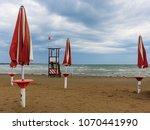 a beach of the adriatic sea in...   Shutterstock . vector #1070441990