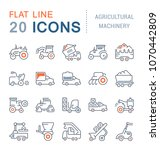 set of vector line icons  sign... | Shutterstock .eps vector #1070442809
