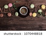 coffee cup  beans  chocolate... | Shutterstock . vector #1070448818