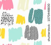 trendy seamless pattern with... | Shutterstock . vector #1070448830