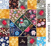 cute square patchwork pattern... | Shutterstock .eps vector #1070450726