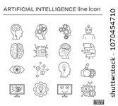 set of artifical intelligence... | Shutterstock .eps vector #1070454710