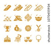 gold icon set | Shutterstock .eps vector #1070455934