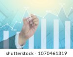 business digital stock market... | Shutterstock . vector #1070461319