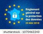 rgpd   french  reglement... | Shutterstock .eps vector #1070462243