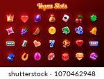 slots icon set. 2d game icon | Shutterstock .eps vector #1070462948