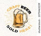 craft beer sold here  ... | Shutterstock .eps vector #1070463239