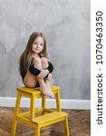 beauty cute caucasian blonde... | Shutterstock . vector #1070463350