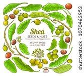 shea elements vector set   Shutterstock .eps vector #1070463953