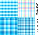 set of seamless multicolored... | Shutterstock .eps vector #1070464040