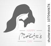 vector happy mother's day.... | Shutterstock .eps vector #1070464676