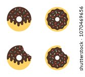 isolated set of delicious donut | Shutterstock .eps vector #1070469656