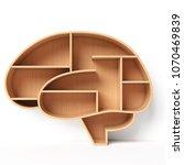 bookshelves in the shape of... | Shutterstock . vector #1070469839