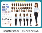 set of businesswoman character... | Shutterstock .eps vector #1070470766