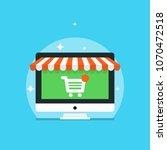 illustration of online shopping ... | Shutterstock .eps vector #1070472518